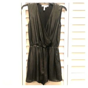 Super cute shiny black BCBGeneration romper